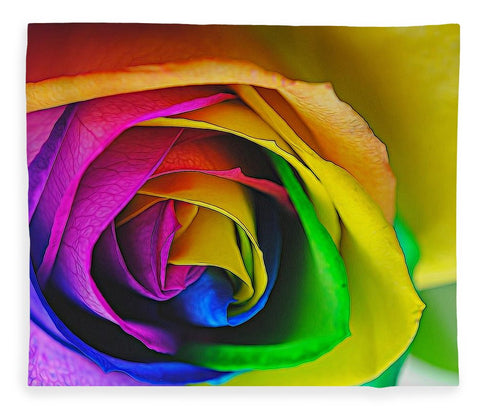 Rainbow Rose 23 - Blanket