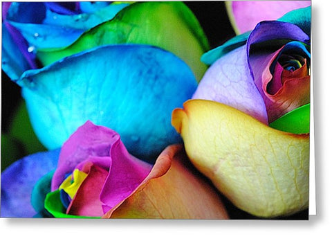 Rainbow Roses 9 - Greeting Card
