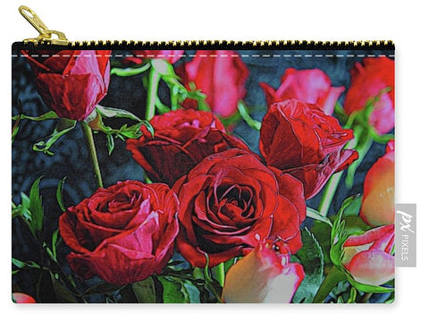 Red And White Rose Collection 3 - Carry-All Pouch
