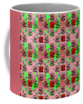 Red And White Roses Pattern On Pink - Mug
