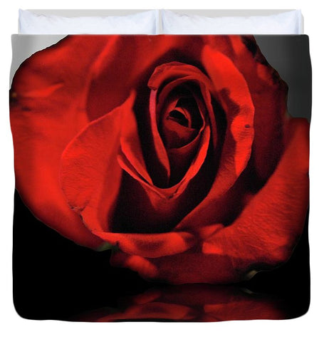 Red Rose Reflection - Duvet Cover