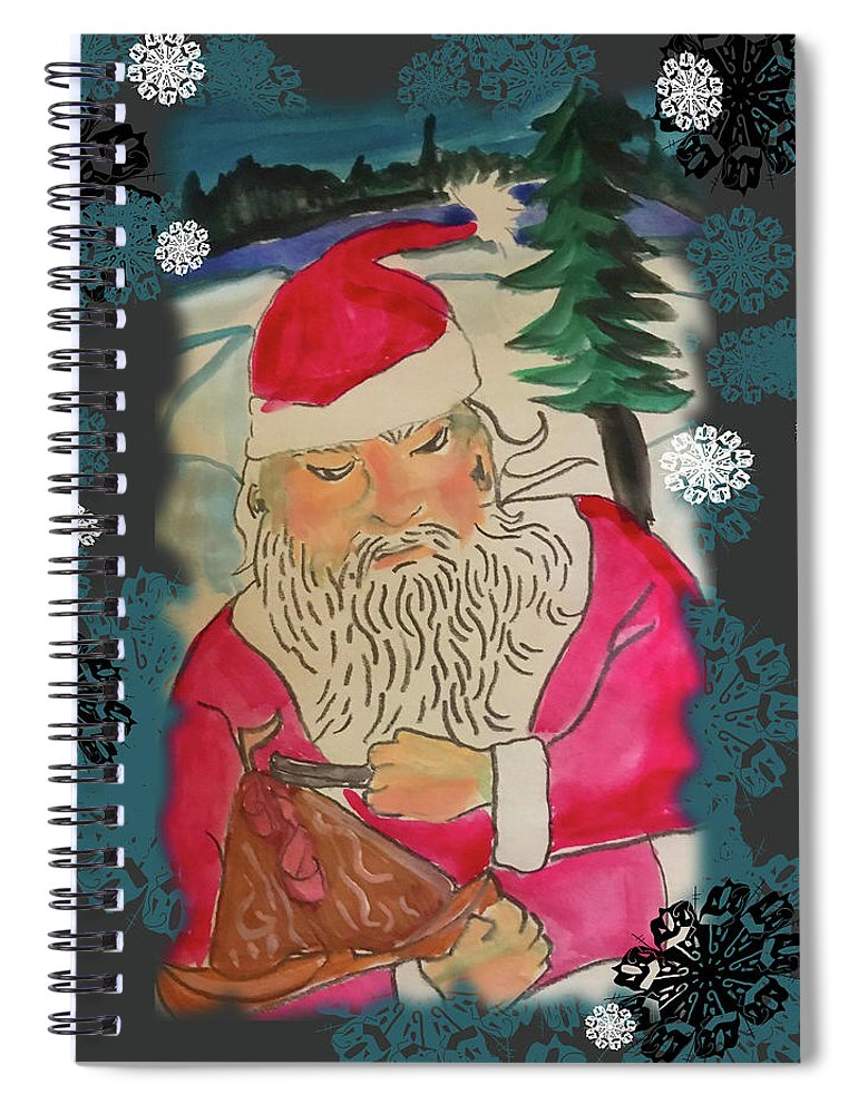 Santa Makes A Toy - Spiral Notebook