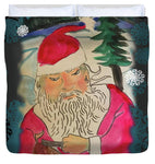 Santa Makes A Toy - Duvet Cover