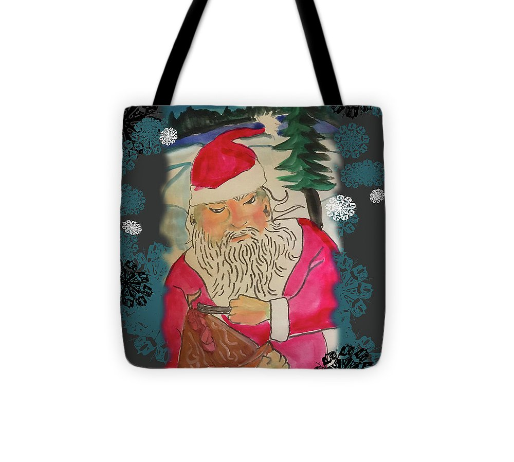 Santa Makes A Toy - Tote Bag