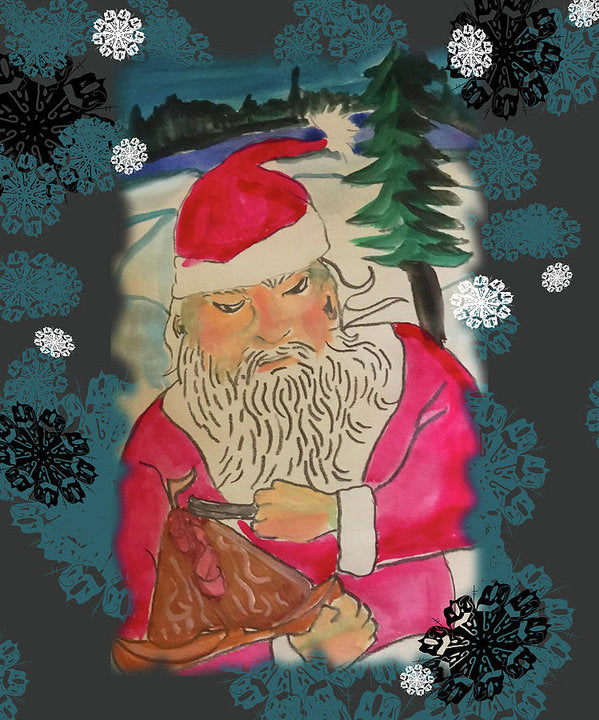Santa Makes A Toy - Art Print