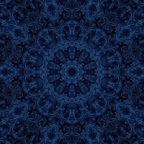 Faux Blue Victorian Kaleidoscope Digital Image Download