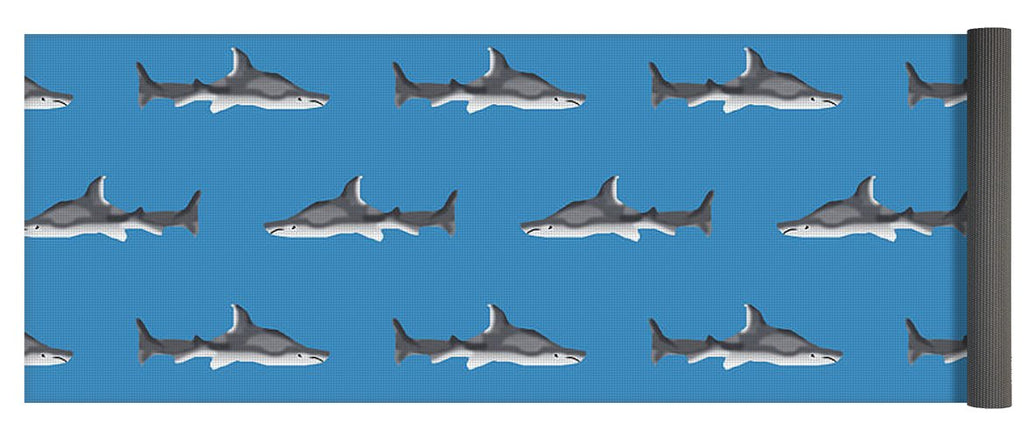 Sharks Pattern - Yoga Mat