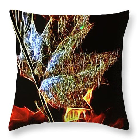 Shining Fall Leaf - Throw Pillow