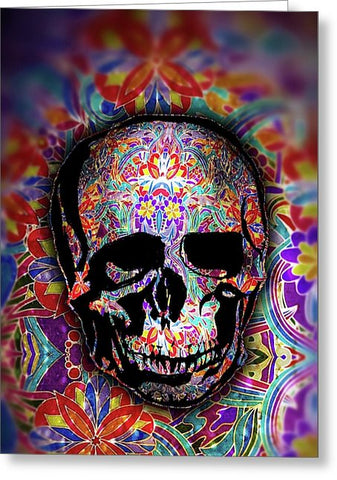 Skull With Sparkle Pattern - Greeting Card