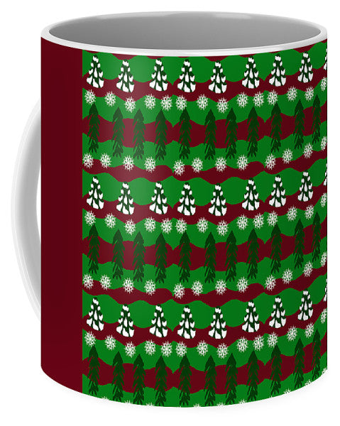 Snow Trees And Stripes - Mug