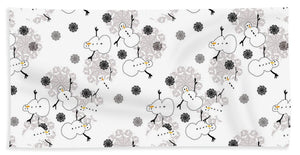 Snowman Pattern - Beach Towel