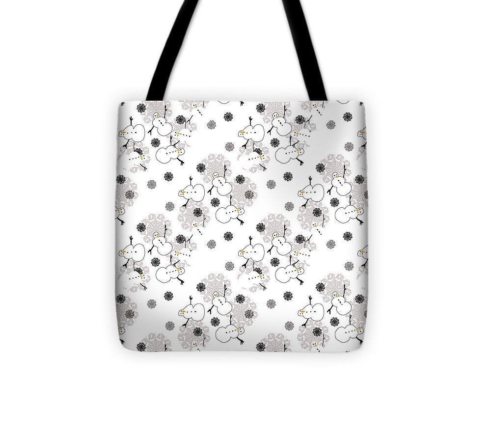 Snowman Pattern - Tote Bag