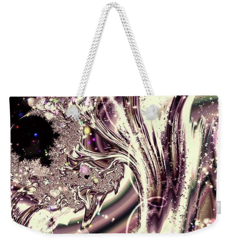 Sometimes I Can See Your Sould Silver Liquid Fractal - Weekender Tote Bag