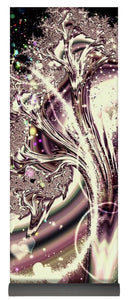 Sometimes I Can See Your Sould Silver Liquid Fractal - Yoga Mat