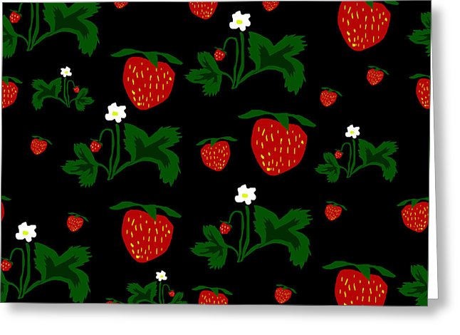 Strawberries Pattern - Greeting Card