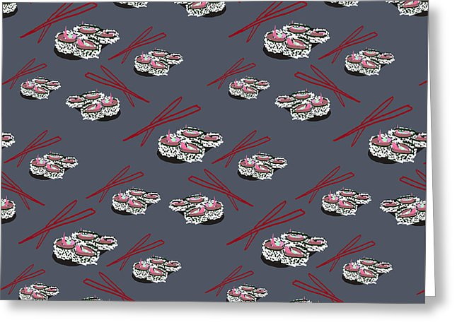 Sushi Pattern - Greeting Card