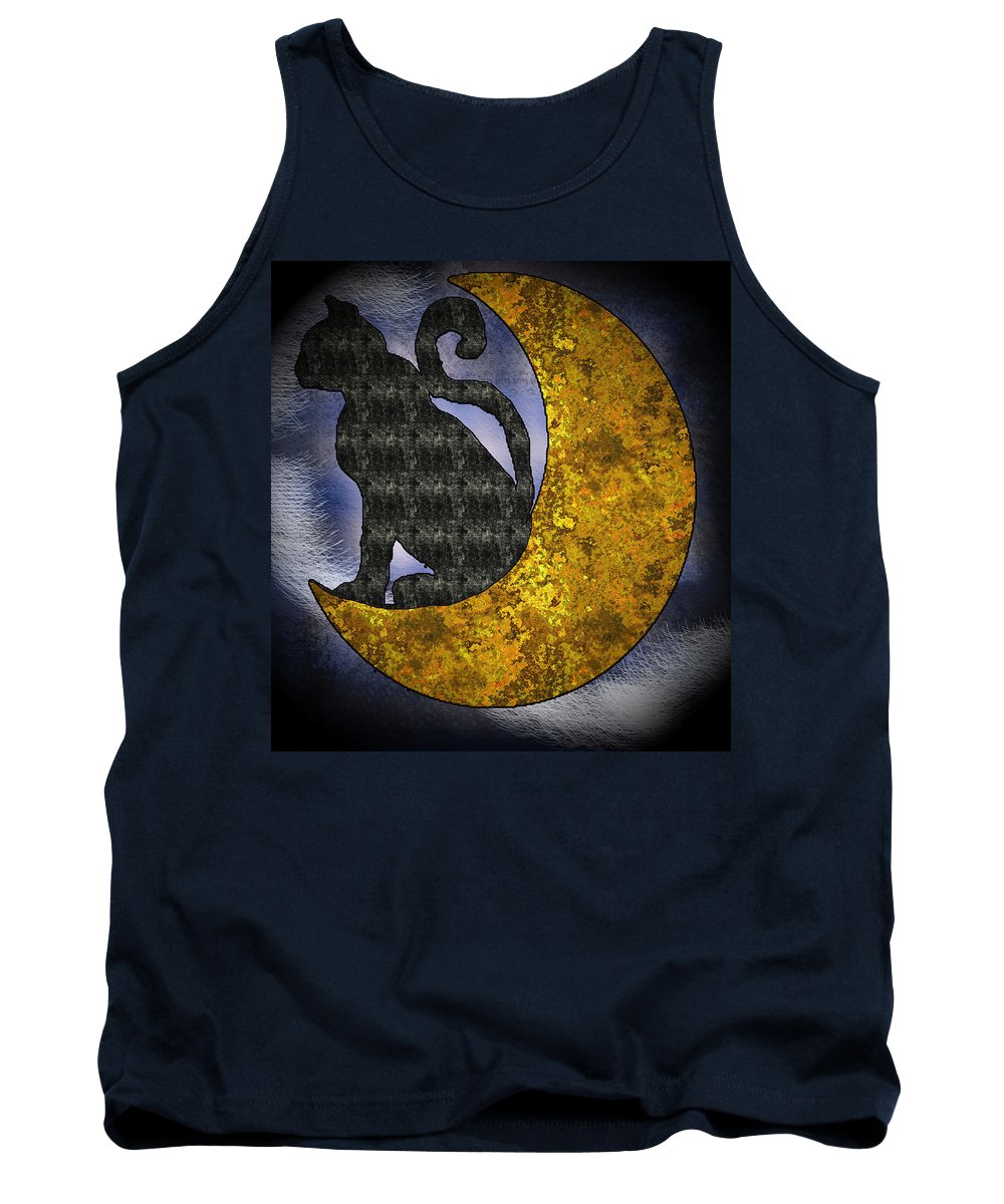 The Cat And The Moon - Tank Top