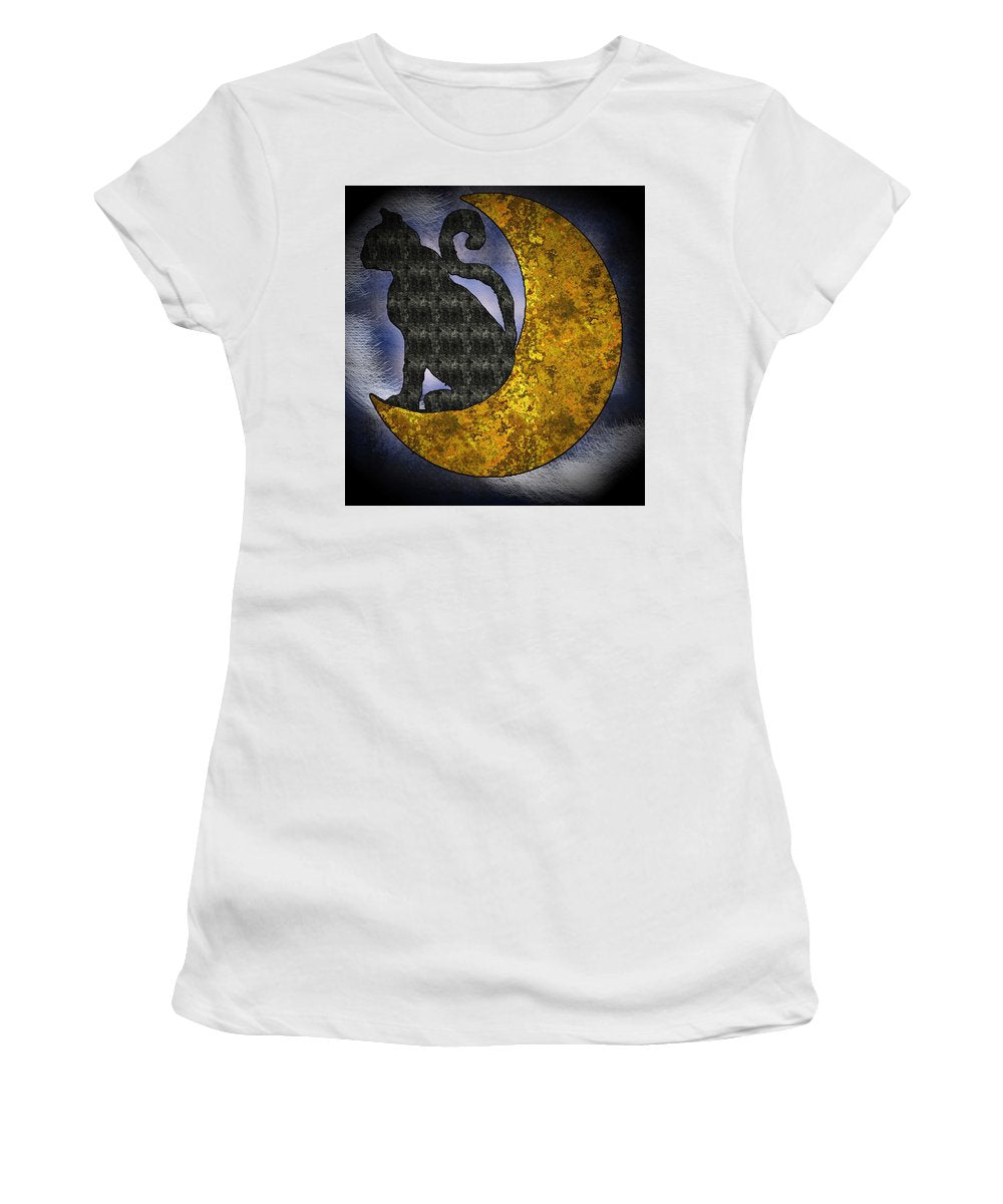 The Cat And The Moon - Women's T-Shirt