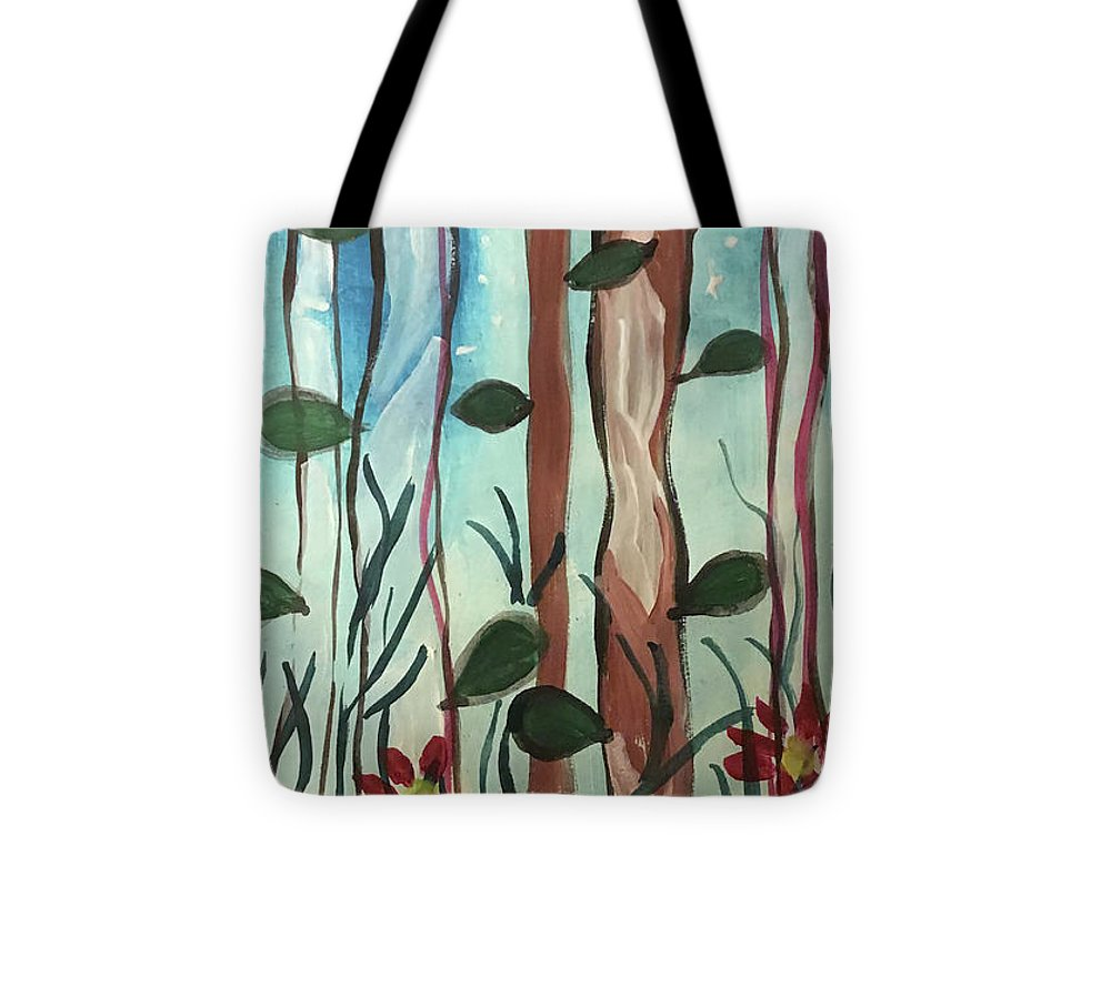 The Moon Behind Trees - Tote Bag