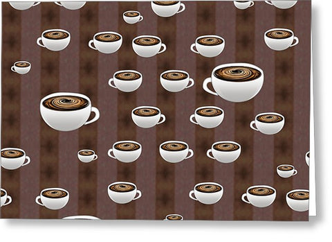 True Coffee Repeating - Greeting Card