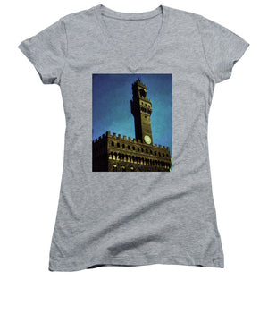 Vintage Travel Florence City Hall - Women's V-Neck
