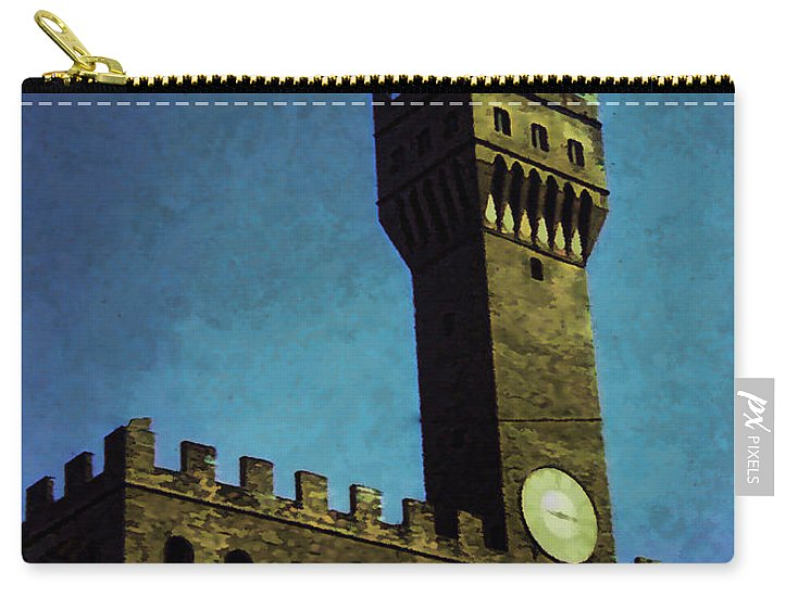 Vintage Travel Florence City Hall - Carry-All Pouch