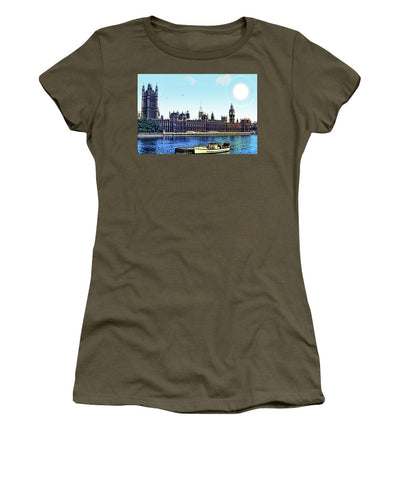 Vintage Travel Houses Of Parliament  - Women's T-Shirt