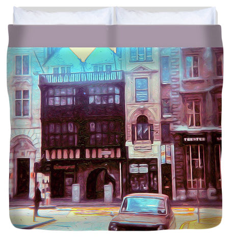 Vintage Travel London 1973 - Duvet Cover