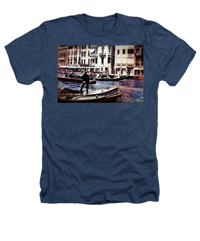 Vintage Travel On A Venice Canal - Heathers T-Shirt