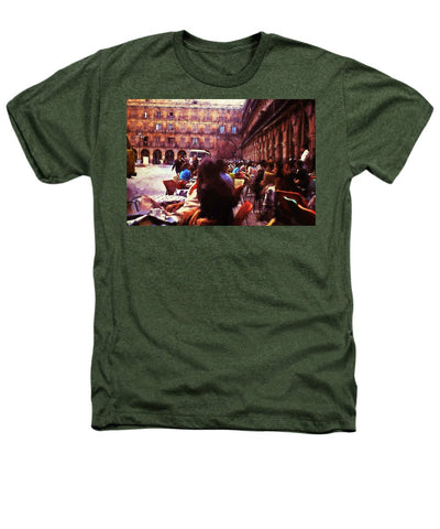 Vintage Travel Outdoor Cafe - Heathers T-Shirt