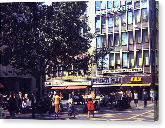 Vintage Travel Shopping In Germany 1973 - Canvas Print