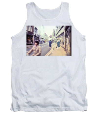 Vintage Travel Street With Bicycle Rider - Tank Top
