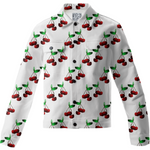 Cherries Pattern Twill Jacket