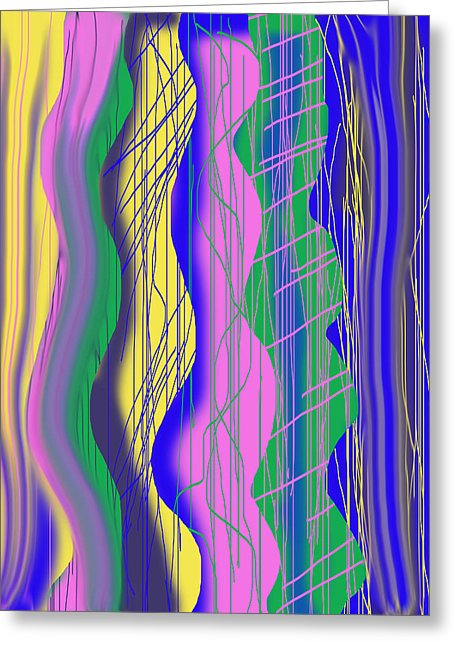 Wavy Scribble Abstract - Greeting Card