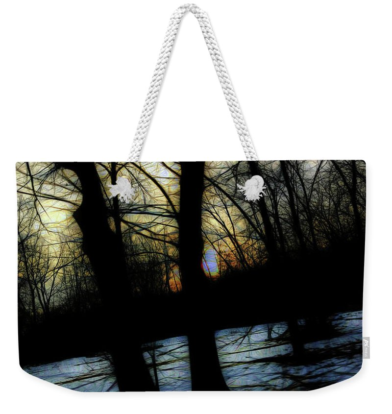 Winter Twilight Teases The Woods - Weekender Tote Bag