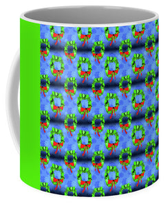 Wreath Christmas Pattern - Mug