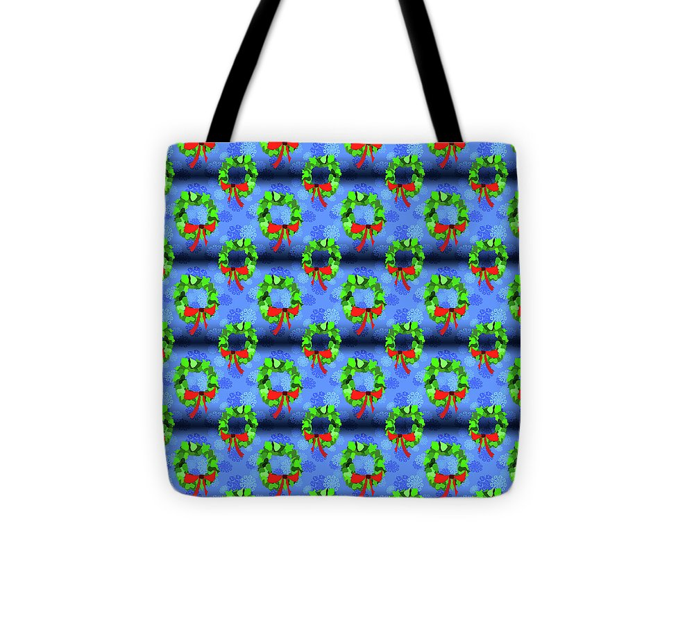 Wreath Christmas Pattern - Tote Bag