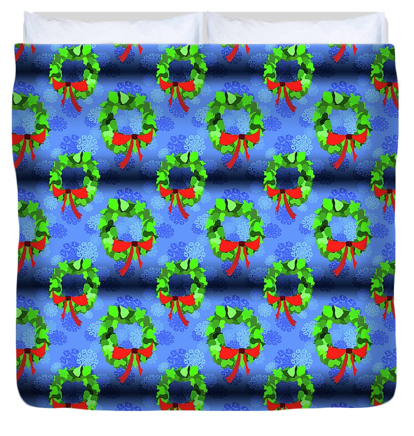 Wreath Christmas Pattern - Duvet Cover