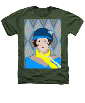 Yellow Scarf Girl - Heathers T-Shirt