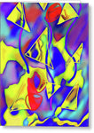 Yellow Triangles Abstract - Greeting Card