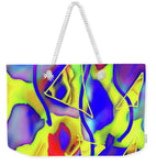 Yellow Triangles Abstract - Weekender Tote Bag