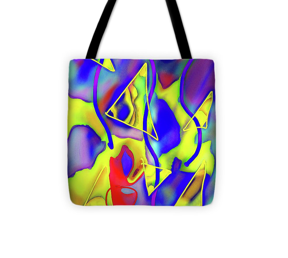 Yellow Triangles Abstract - Tote Bag