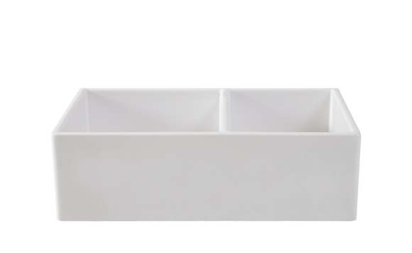 Double Farmhouse Offset Sink - 33 inch