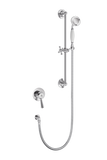 Traditional Concealed Shower With Flexible Kit - Porcelain Lever