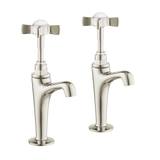 High Neck Pillar Taps - Metal Levers