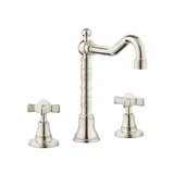Colonial Bathroom Tap - Goose Spout - Cross Handles