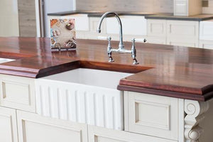 Fluted Farmhouse Sink - 23.5 inch