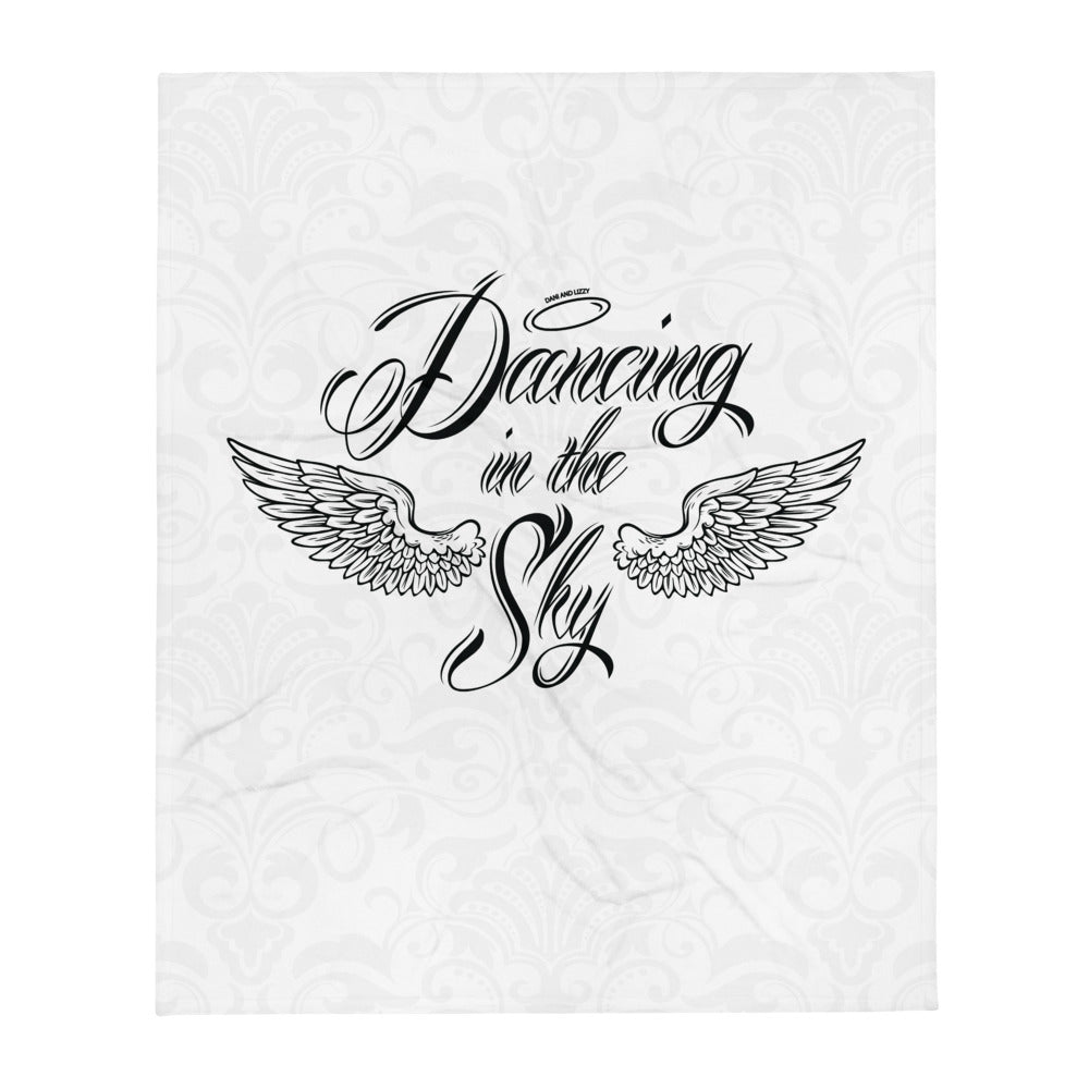 White Throw Blanket (Dancing in the Sky Wings)