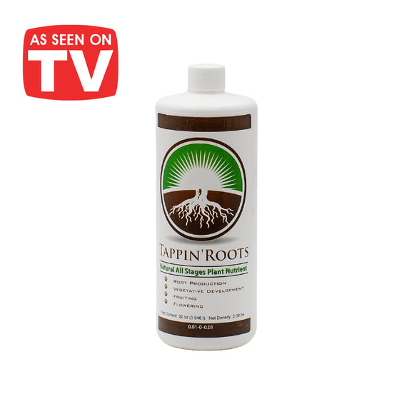 32oz (quart) bottle of Tappin' Roots Natural All Stages Plant Fertilizer - As Seen on TV