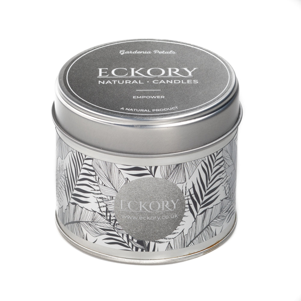 Eckory gardenia petals natural wax tin candle scented luxury perfect gift